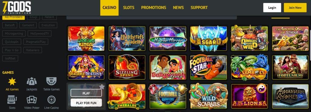 Партнерка от 7 Gods Casino